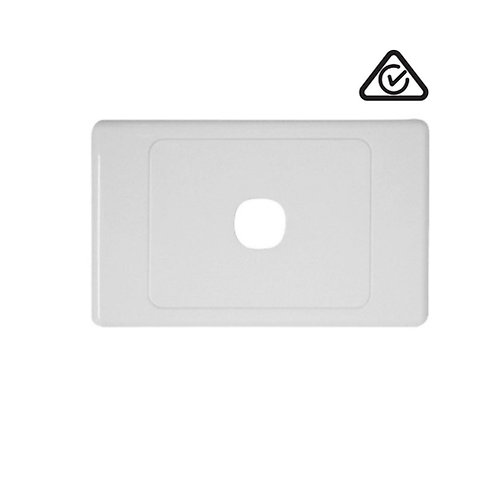 Clipsal Compatible 1 Gang Wall Plate White