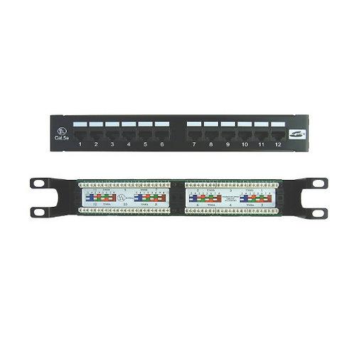 Premium Patch Panel 12 Port Cat.5E - wall mount type
