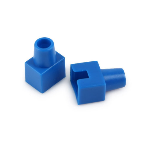 RJ45 Boots Blue (Square-shaped) - 1 pack: 100ea