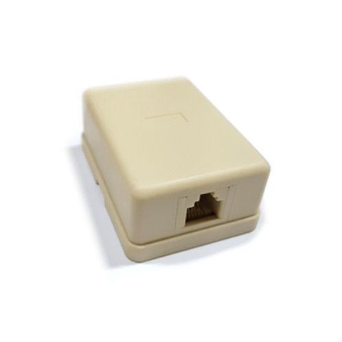 1 Way RJ11 Modular 6P4C Telephone Surface Socket
