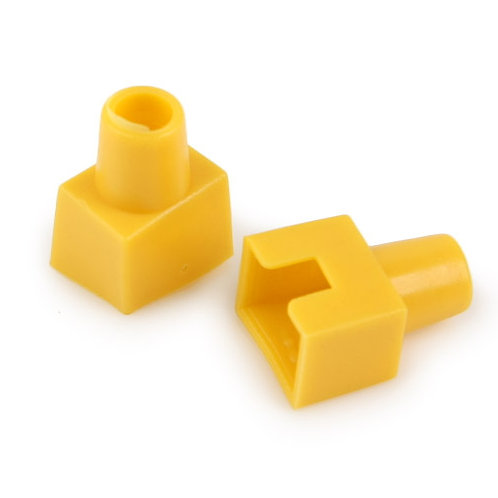 RJ45 Boots Yellow (Square-shaped) - 1 pack: 100ea