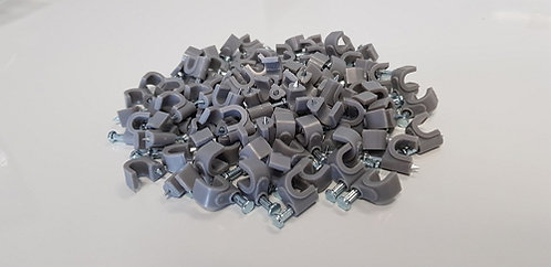6mm Circle cable clips (with Steel Nail) - 1 pack: 100ea
