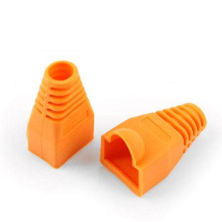 RJ45 Boots Orange - 1 pack: 100ea