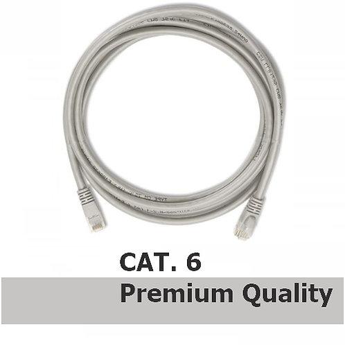 RJ45 - RJ45 Network Patch Lead Cat.6 (50cm) Grey - Premium Quality