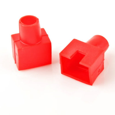 RJ45 Boots Red (Square-shaped) - 1 pack: 100ea