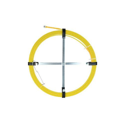 8M Fish Tape Fiberglass Cavity Cable Snake Rodder Yellow Tongue