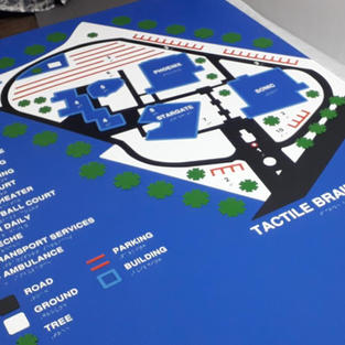 Tactile Braille Map