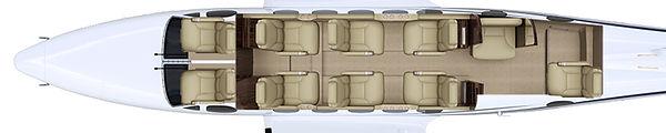 King Air B200 Floorplan