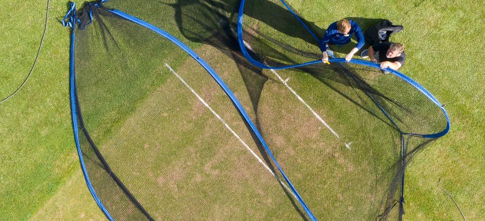 Cricket Nets at Melksham Cricket Club, Melksham, Wiltshire - Catherine Fallon Operations