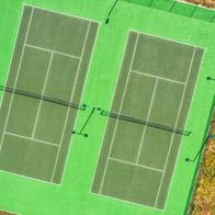 Tennis court, Melksham, Wiltshire - Catherine Fallon Operations