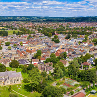 Town Centre Panorama, Melksham, Wiltshire - Catherine Fallon Operations