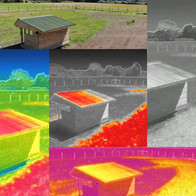 Infrared Thermal Image FLIR Colour Palette, Shaw, Wiltshire - Catherine Fallon Operations