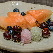 Koreanska riskakor & frukt