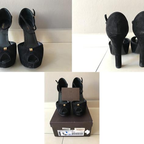 Louis Vuitton maat: 37,5 hoogte: 12 cm  prijs: 210€