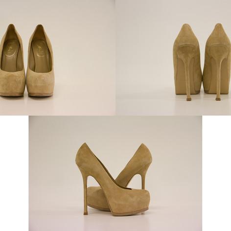 Yves Saint Laurent maat 39,5 hoogte: 14 cm platform: 4 cm  prijs: 260€  ref.: 00587