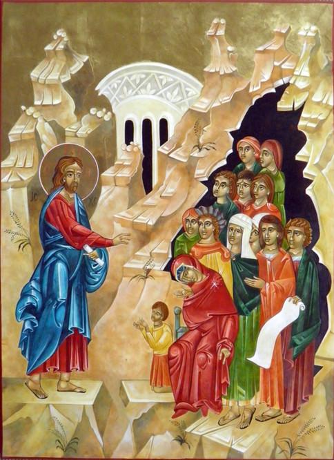 Christ Teaches the Women icon