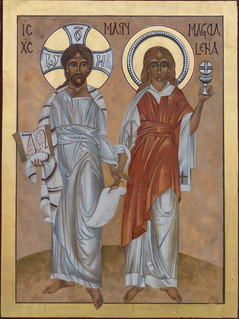 Jesus and Mary Magdalene Icon