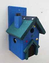 Fairy House Blue & Pine Green