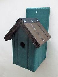 Classic Bird Box Pine Green & Brown