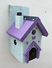 Fairy House Pale Green & Purple
