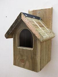 Classic Robin Bird Box Natural