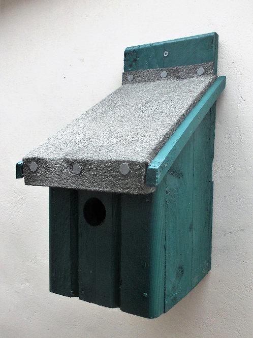 'Lodge' Bird Box - Coloured Version