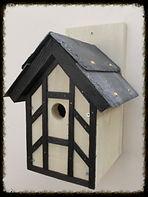 Tudor Bird Box with Twin Slate Roof