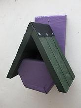 Alpine Robin Bird Box Purple & Green