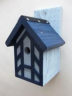 Blue Tudor Bird Box
