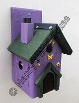 Fairy House Bird Box Purple & Green.jpg