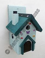 Fairy House Bird Box Pale Green & Pine G