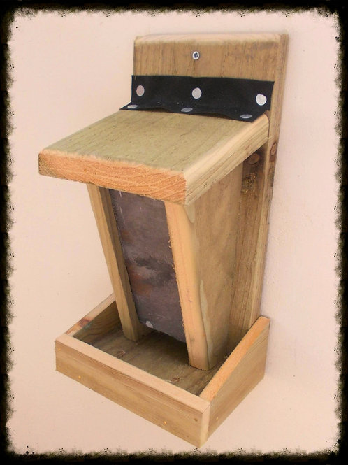 Wall Mounted Wild Bird Feeder - Natural Finish