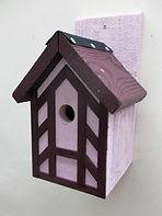 Pink Tudor Bird Box