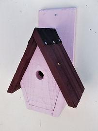 Spire Bird Box Pale Pink & Damson