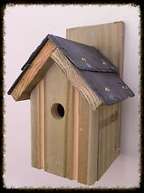 Classic Bird Box with Slate Roof