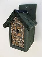 Pebbled Classic Bird Box Green