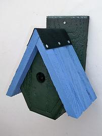 Alpine Bird Box Green & Sky Blue
