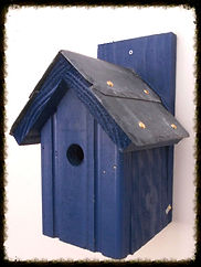 Slate Roof Classic Bird Box Dark Blue