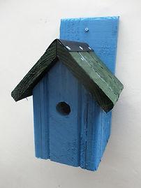 Classic Bird Box Sky Blue & Green