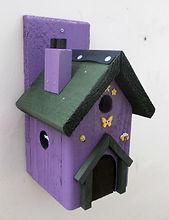Fairy House Purple & Green