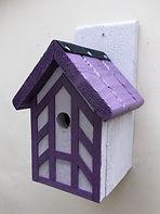 Purple Tudor Bird Box