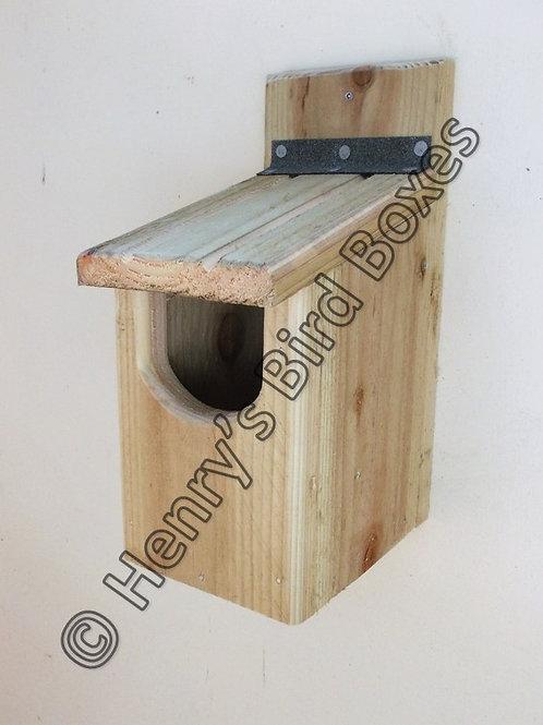 'Basic Robin' Bird Box - Natural Finish