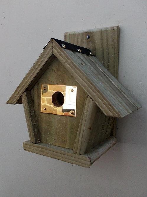 'Brass Entrance Guard' Bird Box - Multiple Designs