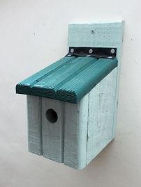 Basic Bird Box Pale Green & Pine Green