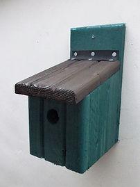 Basic Bird Box Pine Green & Brown
