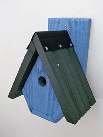Alpine Bird Box Sky Blue & Green