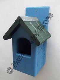 Classic Robin Bird Box Sky Blue & Green.