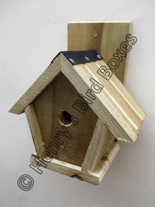 'Penthouse' Bird Box - Natural Finish