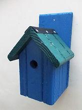 Classic Bird Box Blue & Pine Green