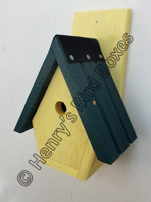 'Spire' Bird Box - Coloured Version